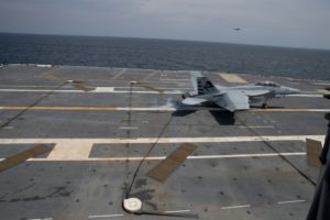 USS Gerald R Ford Air Craft Carrier Flight Deck